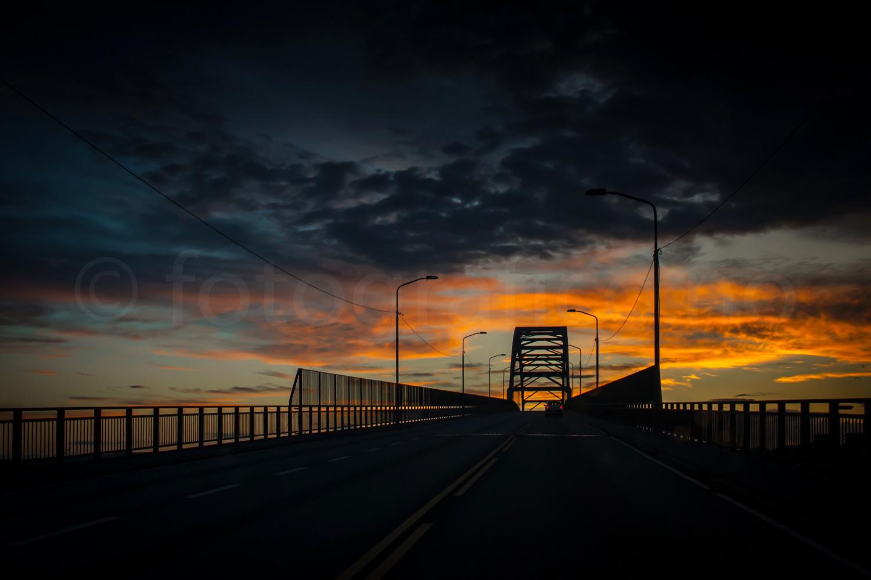 bro solnedgang silhuett fredrikstadbroa vei